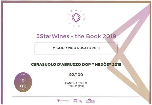 premio-HEDOS-2018--5-STAR-WINES-miglior-vino-Rosato-2019(2)